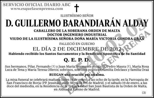 Guillermo Barandiarán Alday